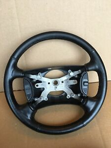2000 2002 Dodge Dakota Steering Wheel Leather Black With Cruise Controls Oem