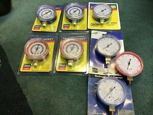 Yellow Jacket Replacement Red Blue Gauges