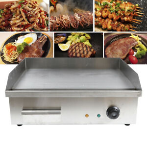 3kw Electric Countertop Griddle Flat Top Commercial Restaurant Grill Bbq 55x45cm