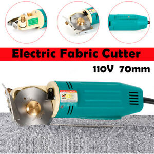 70mm Electric Fabric Cutter Round Rotary Blade Cloth Cutting Machine 800r min Us