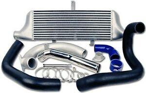 Avo Front Mount Intercooler W Black Piping 05 09 Legacy Gt spec B oxt 08 Wrx