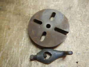 Vintage Sears Craftsman Small Metal Lathe Faceplate W Dog 109 20630