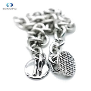 20 Pcs Dental Orthodontic Eyelet Eruption Appliance With Round Traction Chain