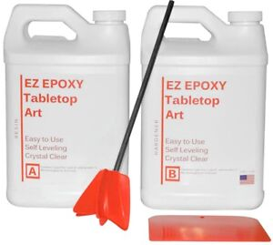 Ez Epoxy Resin Crystal Clear 1 Gallon Kit no Voc easy To Use Tabletop Or Art