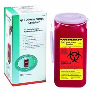 Bd Sharps Container 1 4 Quart Home 1 Count pack Of 12