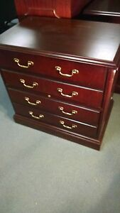 Paoli 2 Drawer Cherry Wood Traditional Lateral File Cabinet