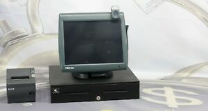 Micros Workstation 5a Pos Terminal Bundle With Printer M129h And Cash Drawer