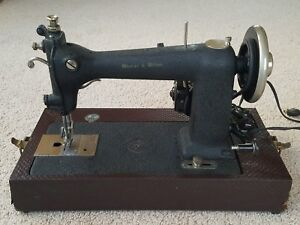Early 1900 S Wheeler Wilson Electric Sewing Machine W Cover