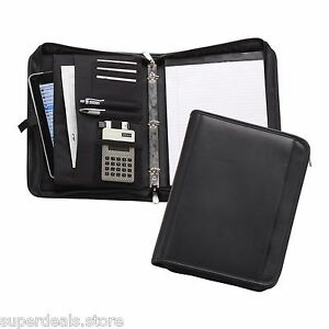 Black Color Zip around 3 Ring Binder Ap8118