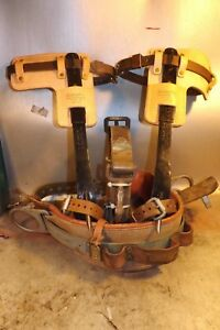 Set With Buckingham Co Pole tree Climbing Spurs spikes gaffs Kit Made In Usa