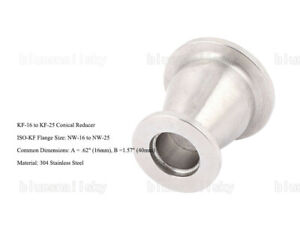Usa Sale Conical Reducer Kf 25 To Kf 16 Flange Stainless Steel Vacuum Adapter