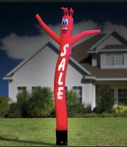 Solid Red sale 20ft Air Dancer Sky Inflatable Tube Puppet For 18 blower