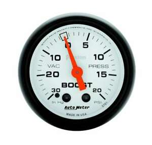 Auto Meter 2 1 16in Phantom Boost Vacuum Gauge