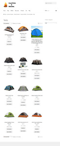 Fully Stocked Camping Website Business For Sale