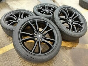 20 Dodge Charger Challenger Chrysler 300 Oem Black Wheels Rims Tires 2017 2563