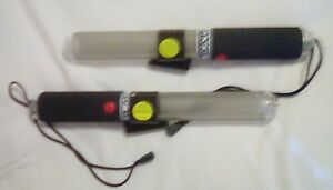 Lighted Safety Signal Baton X2 Traffic Master Glow Baton With Belt Clip