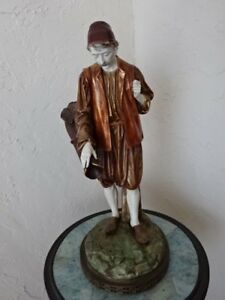 Large Antique Royal Worcester Eastern Male Water Carrier Figurine 18 5 In