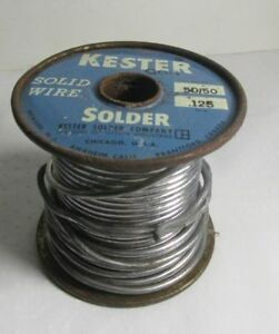 Vintage Kester Solid Wire Solder 50 50 125 Weighs 3lbs 12oz
