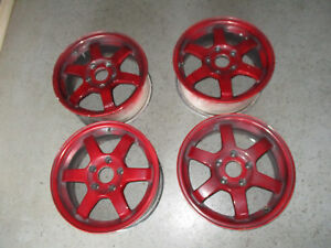 Rare Real Time Racing Volk Te37 Gravel Edition 15x7 42 5x114 3 Rims Rays Wheels