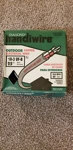 Outdoor Copper Electrical Wire 10 3 Uf b With Ground 25ft