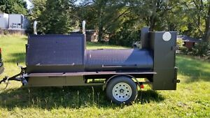 Start Bbq Smoker Catering Business 48 Grill Wedding Fair Mobile Food Cart Truck