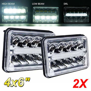4 x6 Led Headlights Cree Light Bulbs Replace H4656 4651 Sealed Headlamp set 2