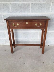Harden Furniture Solid Cherry Chippendale Style 30 Console Table