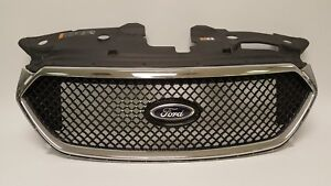 2013 2018 Ford Taurus Sho Front Bumper Chrome Grille Radiator Cover 13 18 Oem