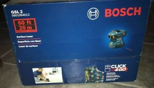 Bosch Gsl2 30ft Self Leveling Surface Laser Alignment Measure Layout Leveler New