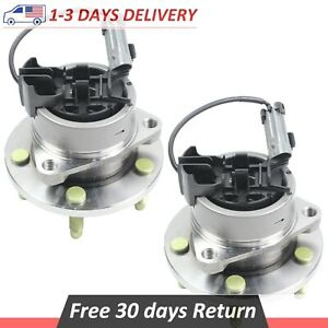 Pair 2 Front Wheel Hub Bearing Assembly For Chevy Cobalt Hhr Pontiac W Abs