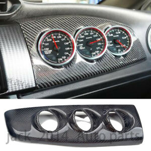 Real Carbon Fiber Rhd Blitz Style Dash Triple Gauge Pod For Ft86 Gt86 Frs Brz