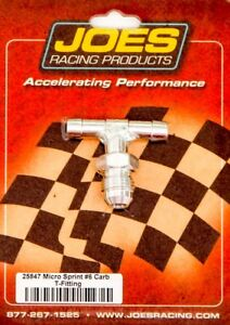Joes Racing Products Carb Fitting 6an Fuel Line Mini Sprint