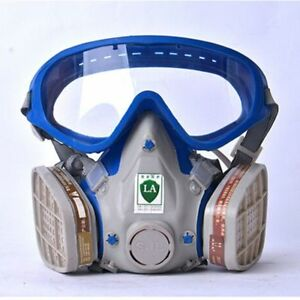 Gas Mask With Glasses Full Face Protective Anti dust Paint Chemical Fire Masks