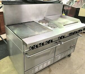 Garland Ss684 2l 24r Electric Restaurant Range 2 Ovens And Griddle 208v 3 phase