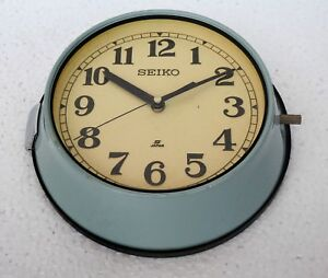 Vintage 1970 S Original Maritime Slave Clock Nautical Ship Quartz Seiko Japan