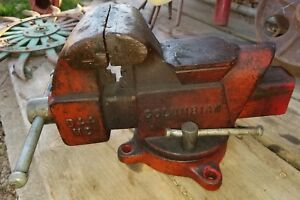 Vintage Columbian Model D 44 m2 4 Jaw Swivel Machinist Vise Made In Usa