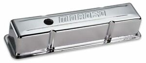 Moroso 68102 Chrome Plated Tall Steel Valve Covers Small Block Chevy Pair