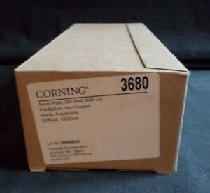 20 Corning 384 well Ps Assay Plate W Lid Sterile Non treated 3680
