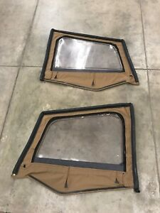 1987 95 Jeep Wrangler Yj Soft Top Upper Half Door Skins Spice Sold As A Set Pair