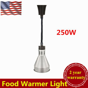 Portable Heat Lamp Food Warmer Light Commercial Buffet Restaurant 250w Silver Us