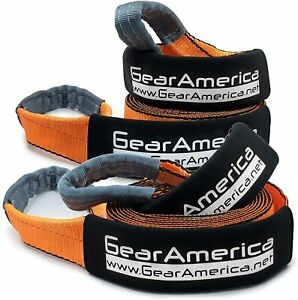 Gearamerica Recovery Tow Straps 3 X 20 35 000 Lbs 17 5 Ton 2 Pack Bundle