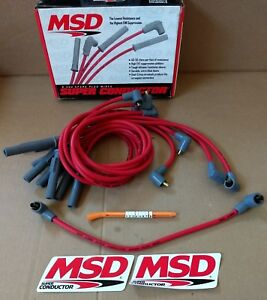 New Msd Bb Chevy 8 5mm Super Conductor Spark Plug Wire Set Socket 31379