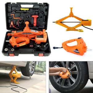 3 Ton Electric Hydraulic Floor Jack Lift Electric Impact Wrench Car Van Us Stock