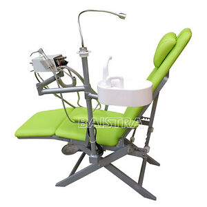 Dental Portable Folding Mobile Chair With Turbine Unit led Surgical Light Lamp