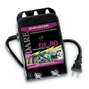 Dare Low Impedance Electric Fence Energizer Charger Enforcer Series De 80 New