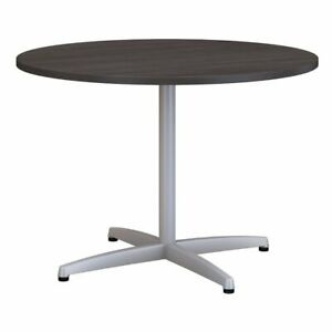 Bush Business 42 Round Metal Base Conference Table In Storm Gray