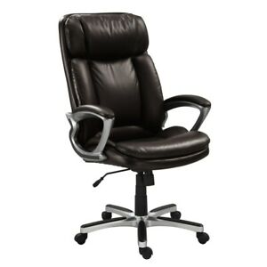 Serta Big And Tall Executive Office Chair In Old Chestnut