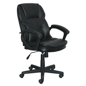 Serta Manager s Office Chair In Puresoft Faux Black Leather