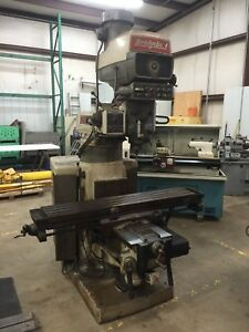Bridgeport Vertical Milling Machine 4 Hp Series Ii 3 Axis Dro W 6 Riser Block