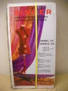 New In Box Singer Adjustable Dress Form With Stand Mannequin Model 151 New